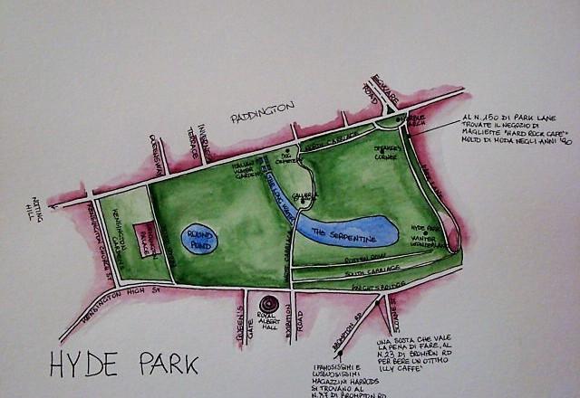 cartina Hyde Park