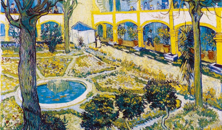 Vincent-van-gogh-the-courtyard-of-the-hospital-at-arles